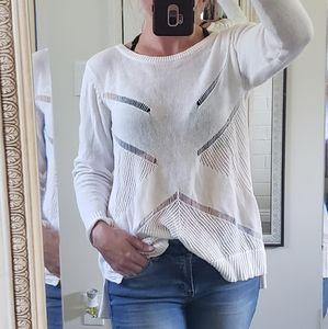 White volcom sweater